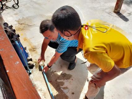 กปภ.สาขาตราดดำเนินโครงการ CSRเข้าตรวจสอบคุณภาพน้ำโรงเรียนชุมชนวัดอ่าวช่อ อ.เมือง จ.ตราด