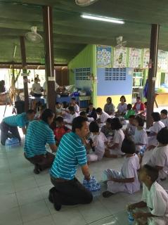 """ร่วมกิจกรรมโครงการ""""หนูน้อย รักษ์น้ำ"""" ร่วมกับ โรงเรียนบ้านท่าเกวียน อ.ทุ่งเสลี่ยม จ.สุโขทัย"""