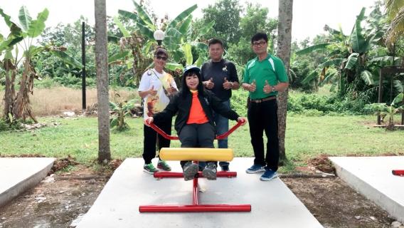 กปภ.สาขาขลุง ส่งมอบลานออกกำลังกายเพื่อเป็นสาธารณประโยชน์ให้แก่เทศบาลตำบลเขาสมิง ในโครงการ กปภ.รักษ์ชุมชน
