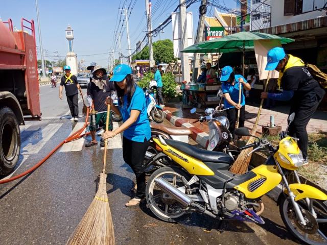 กิจกรรมปรับปรุงภูมิทัศน์ เกาะกลาง ไหล่ทาง ถนนแสงชูโต ให้สะอาด สวยงามและเป็นระเบียบเรียบร้อย