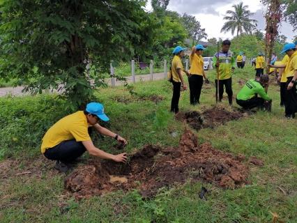 กปภ.สาขาศีขรภูมิร่วมโครงการจิตอาสา เราทำความดีด้วยหัวใจ ร่วมกันปลูกต้นไม้