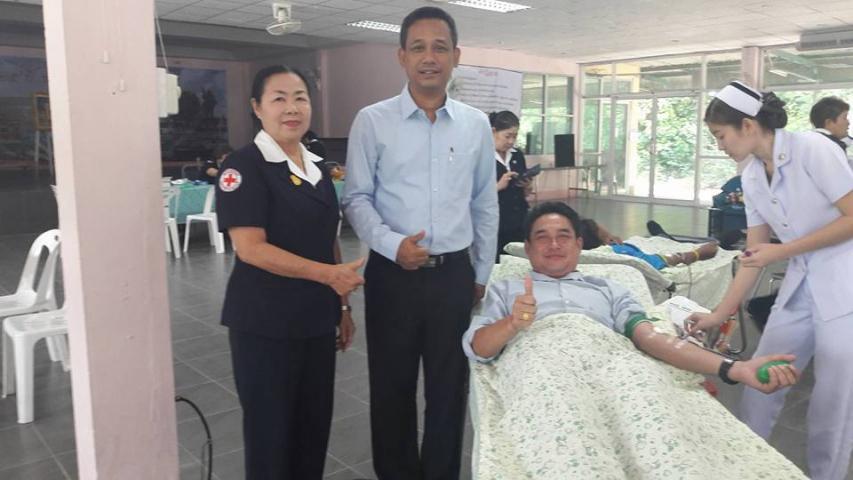 กปภ.สาขาเลาขวัญ ร่วมกันบริจาคโลหิตกับหน่วยเคลื่อนที่กาชาดจังหวัดกาญจนบุรี