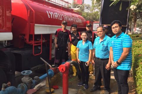 กปภ.สาขารังสิต (พ) ให้การสนับสนุนน้ำประปาเพื่อบรรเทาความเดือดร้อนจากฝุ่น PM 2.5