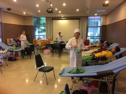การประปาส่วนภูมิภาคสาขาบางปะกง ร่วมบริจาคโลหิต เพื่อช่วยเพื่อนมนุษย์ ให้แก่ศูนย์บริการโลหิตแห่งชาติ สภากาชาดไทย