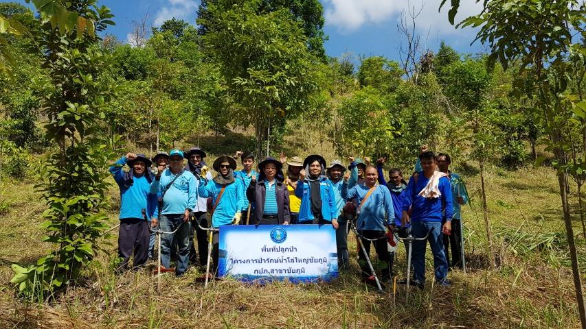 กปภ.สาขาชัยภูมิ ได้ร่วมกิจกรรมบำรุงรักษาพื้นที่ป่า ภายในพื้นที่เขตอุทยานแห่งชาติตาดโตน