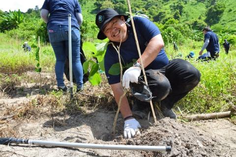 กปภ.สาขาระยองร่วมปลูกต้นไม้ สร้างป่า รักษ์ต้นน้ำ