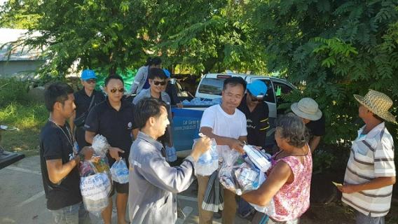 การประปาส่วนภูมิภาคสาขาพยุหะคีรี ร่วมกับ เทศบาลตำบลพยุหะ แจกอาหาร น้ำดื่มและสิ่งของจำเป็น แก่ผู้ประสบภัยน้ำท่วม
